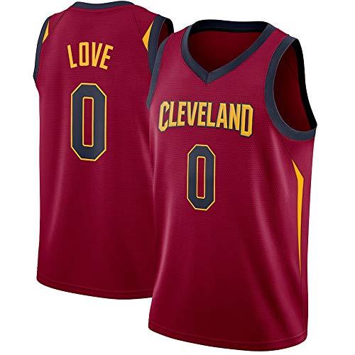 WSUN Camiseta De Baloncesto para Hombre NBA Cleveland Cavaliers 0# Kevin Love NBA Camisetas Sin Mangas Unisex Trajes De Competición De Deportes Al Aire Libre Chaleco De Baloncesto,S
