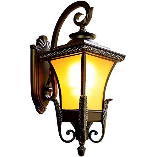 Applique da parete europea retrò E27 in vetro tradizionale da esterno vintage applique da parete esterna corridoio all'aperto giardino patio recinzione impermeabile lampada da parete IP54 lanterna in