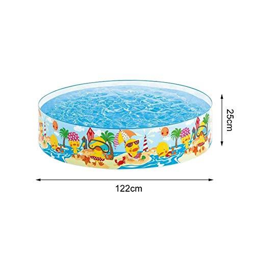 Hearthrousy Kinder Schwimmbad aus Hartplastik Badewanne Tragbarer Planschbecken Nicht Aufblasbarer Pool Badewanne Pool Sommer Wasserspielzeug ungiftiger PVC-Kunststoff für Outdoor, Babykinder