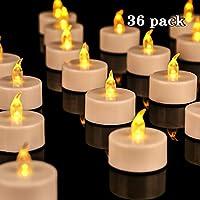 ►Package Include:36cs LED lumini, diametro 3.7 cm/1.4 pollici; altezza 3,7 cm/1,4 pollici. ► Facile da usare: alimentato da batterie CR2032 (incluse), l' atteso vita della batteria è di circa 100 ore. La vita della lampadina LED è di 50.000 ore. Inte...