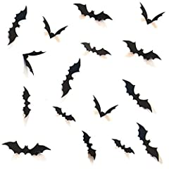 Scary 3D bats all over the wall / window. Arrange them as you wish. You definitely want them in your Halloween Party. Comes with easy to apply style. Easy to apply to walls, doors, glass and other hard surfaces. For use on smooth walls -- can also go...