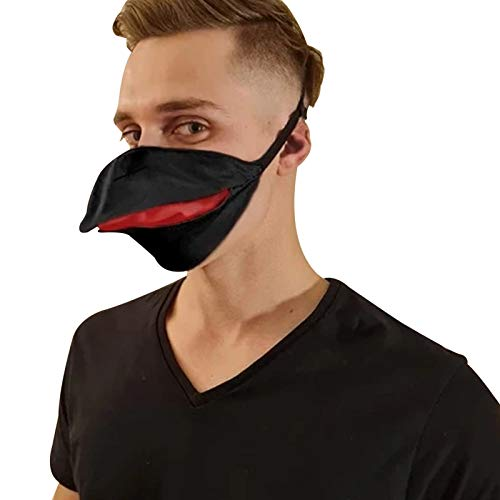 MEKTY ADEALINK Party Animal Face Cover Hand Made Duck Talking Face Cover Open and Close When You Move Your Jaw