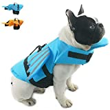 Snik-S Dog Life Jacket- Preserver with Adjustable Belt, Pet Cute Angel Wing Life Jacket for Short Nose Dog (Pug,Bulldog,Poodle,Bull Terrier) (S, Wing Blue)