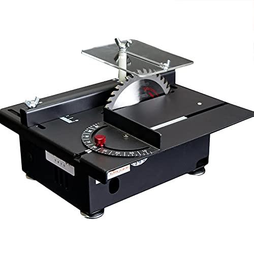 FRIBLSKEL Sierra Mesa Portátil, Molino Mesa Multifuncional,7 Velocidades,Corte 0-90 °,con Función Grabado Pulido Tronzadora Metales Pequeña para Carpintería Doméstica,A