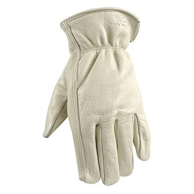 Wells Lamont 1130 Leather Work Gloves with Reinforced Palm, DIY, Yardwork, Construction, Motorcycle