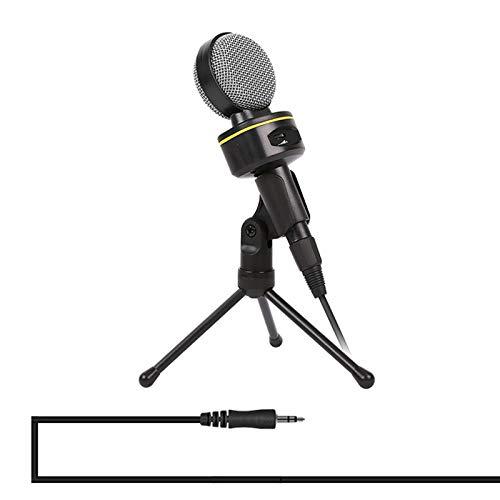 Microfoon SF-930 Professionele condensator geluidsopname microfoon met statief houder, kabellengte: 2,0 m, compatibel met PC en Mac, voor Live Broadcast Show KTV Zwart