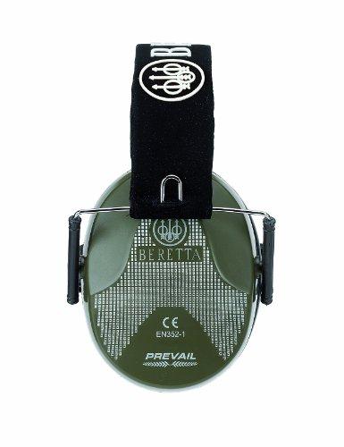 Auriculares BERETTA Modelo HEAD Prevail con Carcasa de Color y Soporte de Cordón, Banda Suave Ajustable y Almohadilla de Espuma Air-Gel. Valores de Atenuación SNR - 25dB. Color Verde y Peso 290 gr