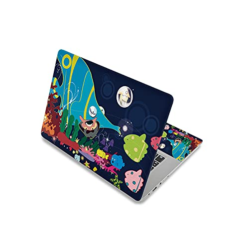 Peach-girl - Adhesivo decorativo para ordenador portátil, diseño de dibujos animados de 17,3 pulgadas (13,63 cm)