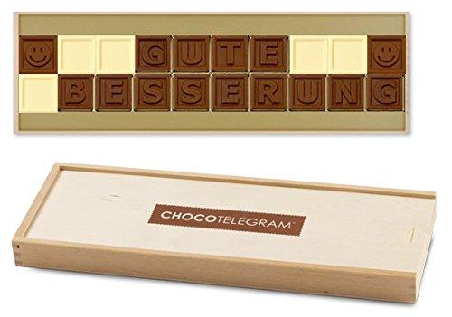 GUTE BESSERUNG - Schokoladenbotschaft | Gute Besserung Schokolade | Gute Besserung Geschenke | Genesungswünsche | kleine Aufmunterung | für Kinder und Erwachsene