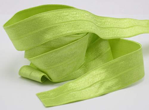 Veno Schrägband elastisch, Falzband, Falzgummi, 20/10mm, Einfaßband, Gummi, nähen, Meterware, 1 Meter (grün)