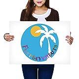 Póster de vinilo de destino A2 – Fuerteventura Spain Sun Spanish Art Print 59,4 x 42 cm, 280 g/m², papel fotográfico satinado brillante #9180