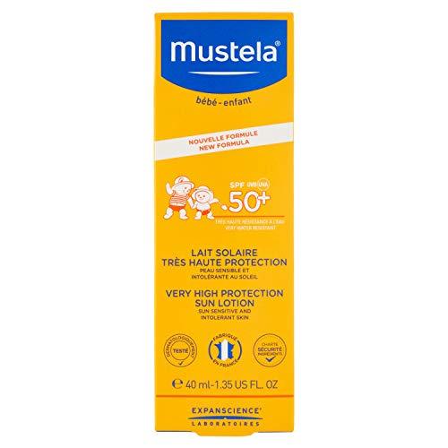Mustela Latte Solare Viso Protezione Molto Alta SPF 50+ UVA UVB Bimbi, 40ml