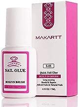 Makartt Nail Glue for Acrylic Nails, Brush on Nail Glue for Nail Repair, Professional Super False Nail Adhesive Glue for Broken Nails Long Lasting S-05