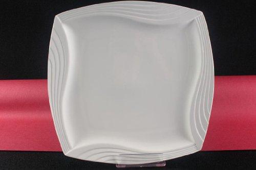 Teller Servierteller Flachteller Porzellan Weiß Gastronomiebedarf 31x31 cm