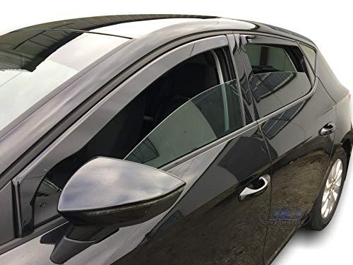 J&J AUTOMOTIVE Derivabrisas para Seat Leon III 5 puerta 2013 - 2020 4 piezas