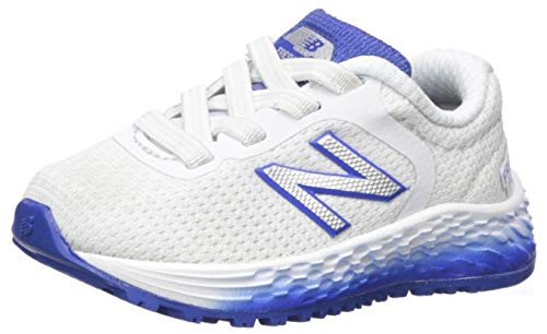 New Balance Kid's Fresh Foam Arishi V2 Bungee Running Shoe, WHITE/TEAM ROYAL, 5 W US Toddler