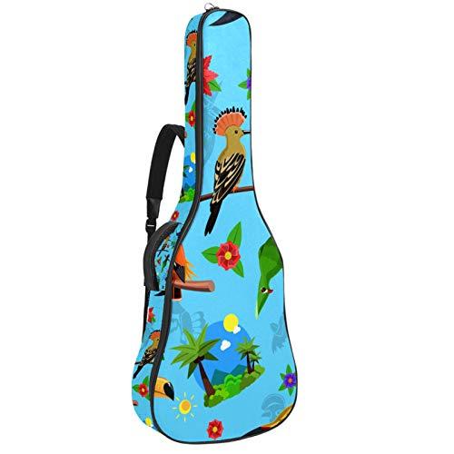 Bennigiry Colorido Aves Resto Flamingo Rama Guitarra Bolsa Guitarra Acústica Gig Bag Guitarras Llevar Caso para Guitarrista