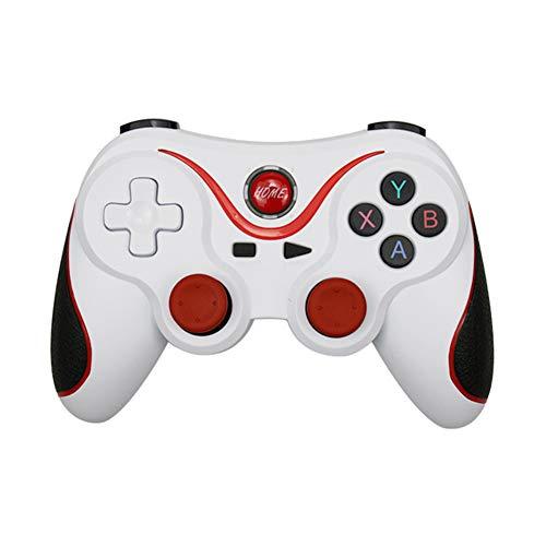 YINTE Drahtloser Joystick Bluetooth 3.0 Gamepad Gaming Controller Gaming-Fernbedienung Für PS3 für Tablet PC Android Mobile, mit verstellbarem Halter-White