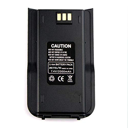 Retevis RT3 2000mAh Two Way Radio Battery Compatible with TYT Tytera DMR MD380 Retevis RT3 RT3S Walkie Talkie (1 Pack)