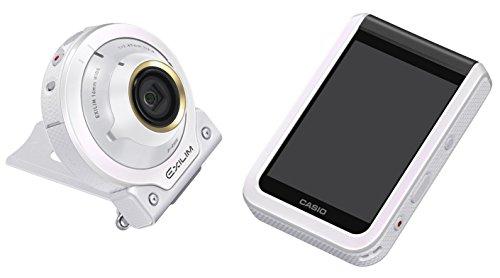 CASIO デジタルカメラ EXILIM EX-FR100LWE カメラ部/モニター部分離 セルフィーが簡単 3つのこだわり自分撮り機能