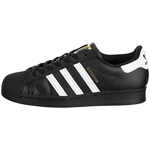 Adidas Originals Superstar Shoes, scarpe da ginnastica da uomo, Nero (Nero Bianco Nero), 42 2/3 EU