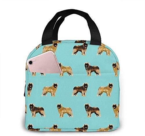 Bolsas de almuerzo aisladas, Leonberger Mascotas Razas que admiten mascotas Perro lindo 128 Fiambrera térmica resistente al agua para trabajo, camping