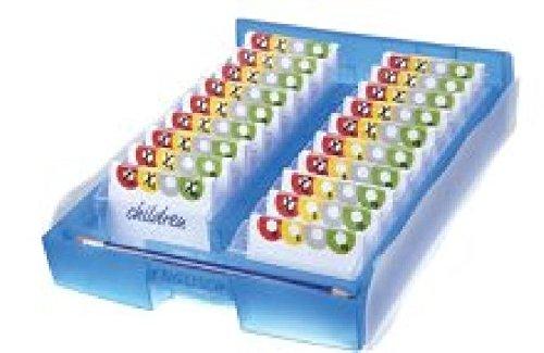Lernkartei CROCO 2-6-19, DIN A8 quer,incl. Stift u.100 Karten, blau-transluzent