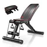 Yoleo Adjustable Weight Bench - Utility Weight Benches for Full Body Workout, Foldable
