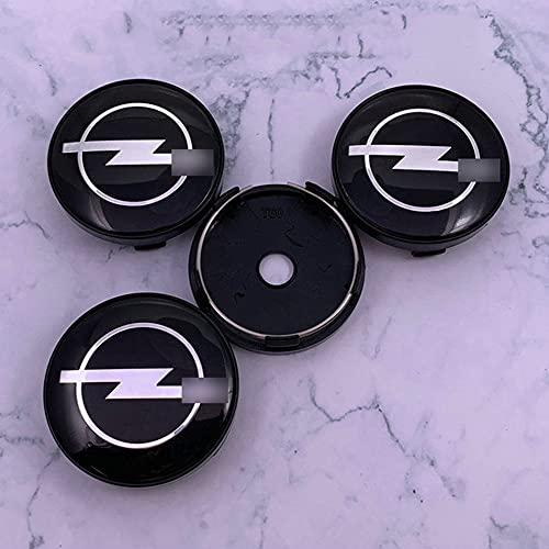 MLHH 4 unids/Set, Tapas de Cubo de Centro de Rueda de Coche, Cubiertas a Prueba de Polvo de Centro de Rueda de Coche, Llantas, Emblema, Tapa de Cubo, tapacubos para Opel, 60mm