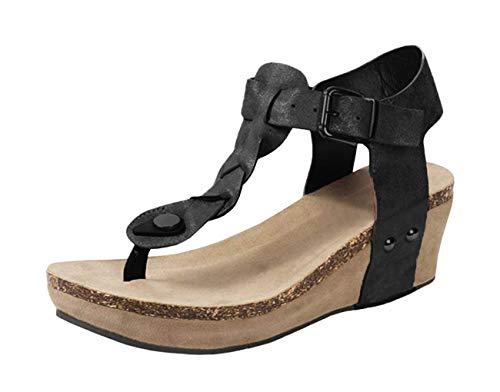 Minetom Mujer Sandalias Y Chancletas De Tacón Alto Plataforma Playa Zapatos De Verano Moda Casual Elegante Romanas Gladiadoras Casual Retro