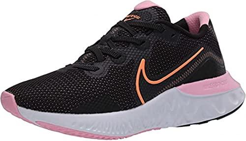 Nike Women's Renew Run Running Shoes (Black/Pink/Orange, Numeric_9)