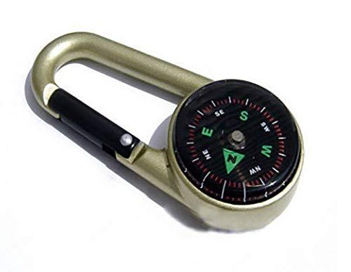 Autumn Boussole Multifonctionnel Thermomètre Véritable, Nord Boussole, Extérieur Zinc Métal Alpinisme Clé Suspendu Compass Boucle