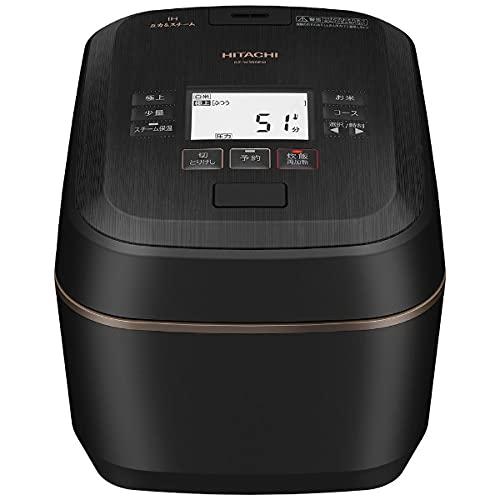 日立 圧力スチームIHジャー炊飯器(5.5合炊き) 漆黒HITACHI ふっくら御膳 RZ-W100EM-K