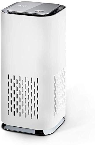 Luftreiniger Auto Allergie HEPA Filter Lonisator, LED Negativ Aktivkohlefilter 99,97% Filterleistung USB für Wohnung Rauch Pollen Haustierallergene Allergiker Raucherzimmer Asthmatiker (Weiß)