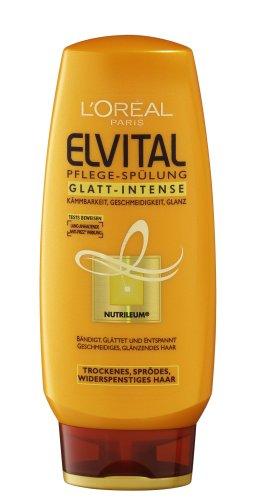 L'Oréal Paris Elvital Lot de 6 flacons de rinçage pour soin lisse 200 ml