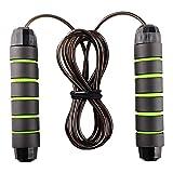 Cuerda para Saltar Profesional rope skipping Training con Mango de Espuma de Suave para Fitness, Ejercicio de Intervalos (verde)