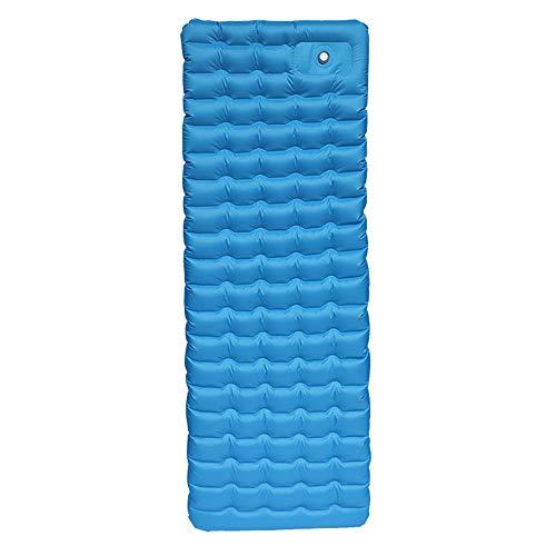 FENGSHUAI Tapis de Couchage Gonflable, Augmenter Pad résistant à l'humidité, Ultra-léger Matelas d'air, Les Pieds Une Pression extérieure Camping Coussin d'air,Bleu