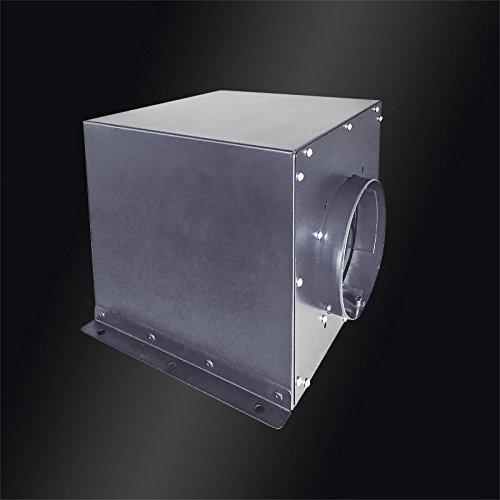 Baumann Zwischenkammergebläse/Externer Motor für Dunstabzugshaube/Außengehäuse verzinkt/ 900m³/h/ebm-Pabst-Motor/4-Stufen-Schaltung,drehzahlsteuerbar