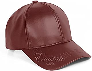 Genuine Cowhide Leather Adjustable Baseball Cap Made in USA