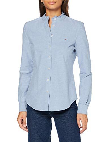 Tommy Hilfiger Damen Recycled Oxford Reg Ls Shirt Hemd, Daybreak Blue, 36