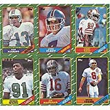 1986 Topps Football Complete Near Mint to Mint Hand Collated 396 Card Set. Loaded with Rookie Cards Including Jerry Rice, Steve Young, Reggie White, Boomer E... rookie card picture