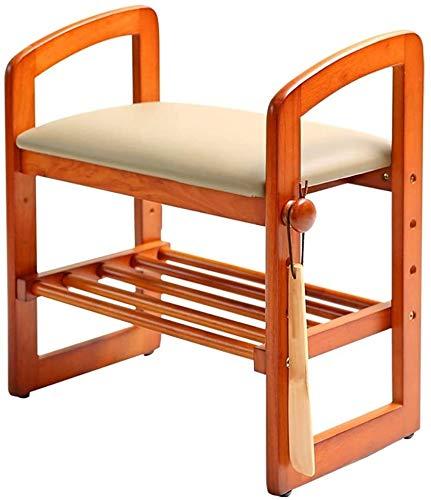 Wddwarmhome Zapato de bambú Rack Solid Wood Shoes Stool Shoe Rack Sofa Sofa Moderno Simple Sartén Taburete