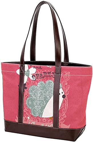 SpiceRack Umweltfreundliche Tasche für Mutter Frauen Mädchen Damen Student Einkaufstasche Geldbörse Einkaufen Leichte Riemen Handtaschen Sommer Surf dunkelblau Umhängetaschen