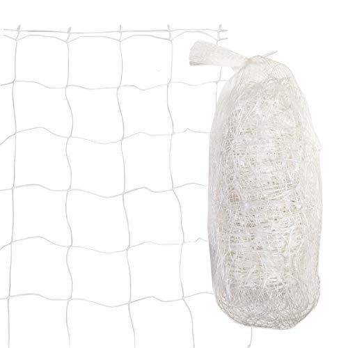 HH-LIFE - Rete per tralicci da giardino, in plastica, per piante rampicanti, verdura, frutta, fiori, 2 x 20 m, colore: bianco