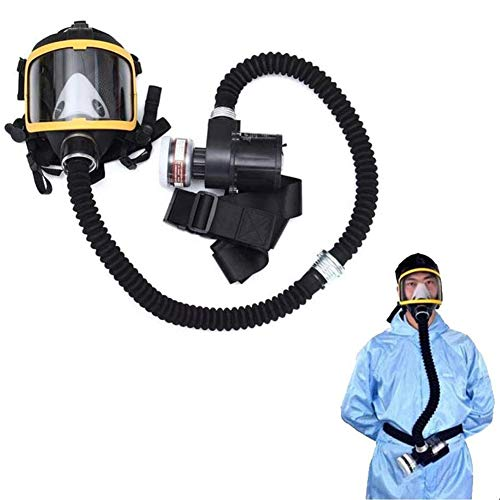 ZDD Máscara antigas,  Máscara de Gas -  3M con Ventilador Doble,  para protección de Paintball,  Airsoft