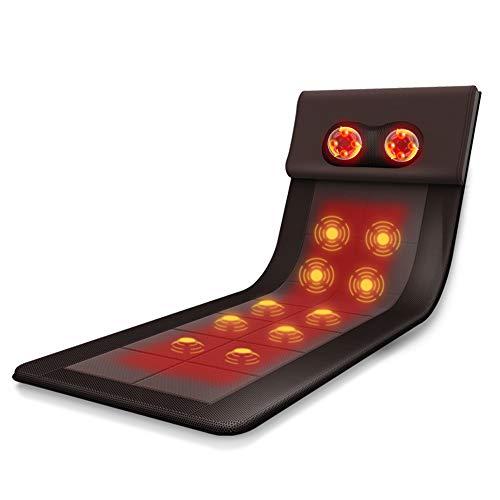 WISSMISS Massage Mat,Heat Vibrating Neck Back Full...