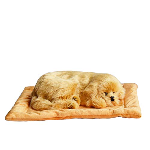 Suphunter Emulation Sleeping Breathing Cute Dog Toy with Snore Sound Pet for Kids (Style5)
