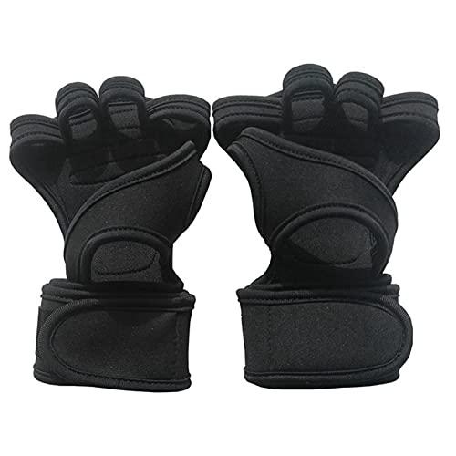 JWDS Guanti fitness 1 Paia Gym Gym Guanti Da Fitness Mano Palm Protector Con Supporto Da Polso Supporto Per Il Corpo Allenamento Bodybuilding Potenza Potenza Sollevamento