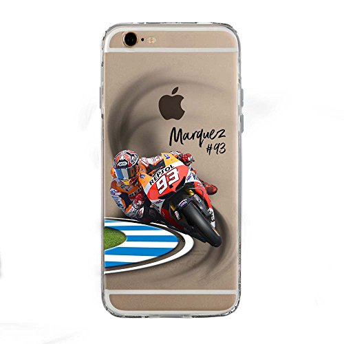 SLIDE IP6 6S Cover TPU Gel Trasparente Morbida Custodia Protettiva, MotoGP Collection, Marc, iPhone 6 6S