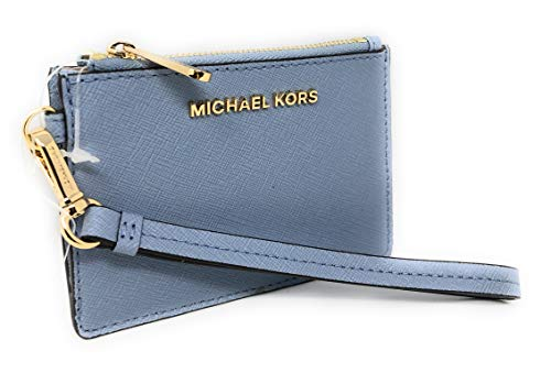 Michael Kors Leather Wristlet; Top Zip Closure Gold Hardware 3 Interior Slip Pockets